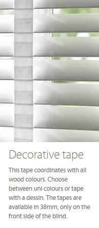 Wooden Blind Decorative Tape Ashtead Surrey