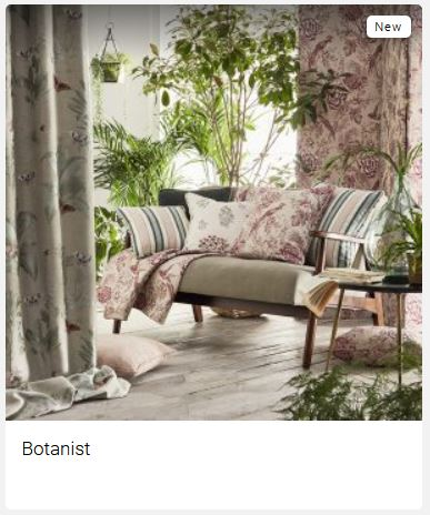 Botanist Clarke And Clarke Curtain Fabric (Tile Picture)