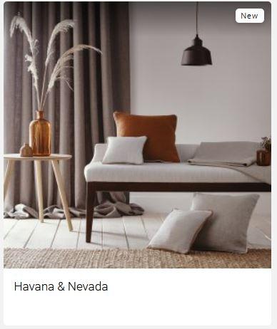 Havana & Nevada Clarke & Clarke Curtain Fabric (Main Tile Pic)